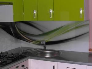Kuchnia lakier zielono - biała